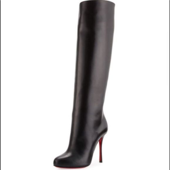 huge discount adb09 7e3cf Christian Louboutin, Vitish leather boots, 100mm